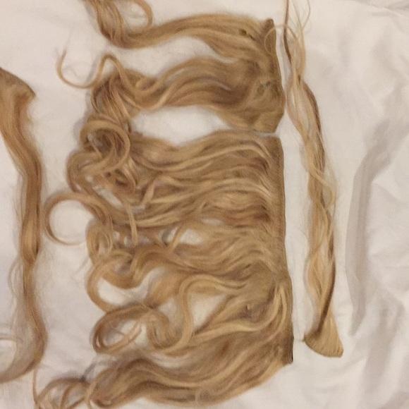 Real Hair Clip 14 Inch Hair Extensions Poshmark